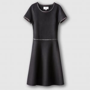 Платье с коротким рукавом SUD EXPRESS. Цвет: черный