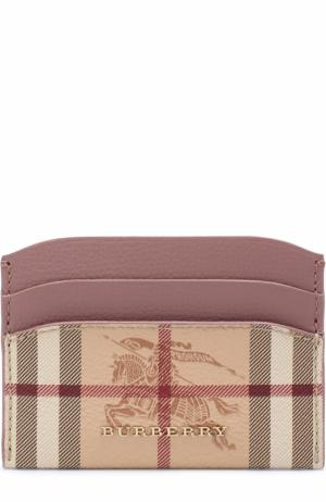 Кожаный футляр для кредитных карт Burberry. Цвет: лиловый