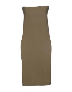 Короткое платье E-GÓ. Цвет: зеленый-милитари