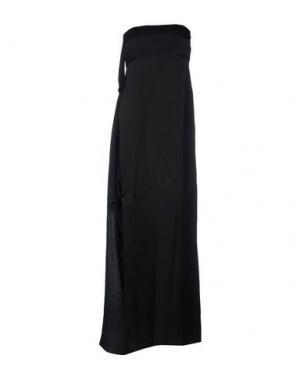 Длинное платье LES PRAIRIES DE PARIS. Цвет: черный