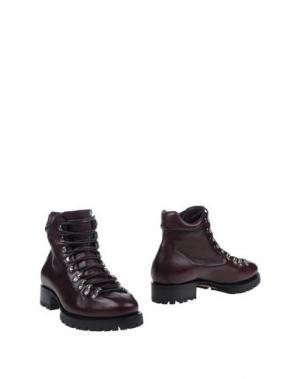 Полусапоги и высокие ботинки DSQUARED2. Цвет: баклажанный