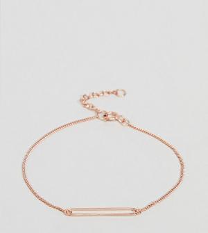 ASOS Покрытый розовым золотом серебряный браслет с подвеской DESIGN. Цвет: медный