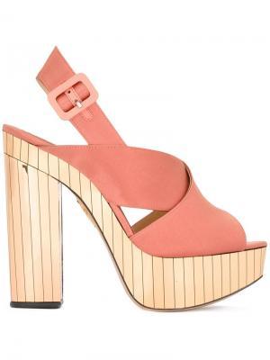 Босоножки Electra Charlotte Olympia. Цвет: розовый и фиолетовый