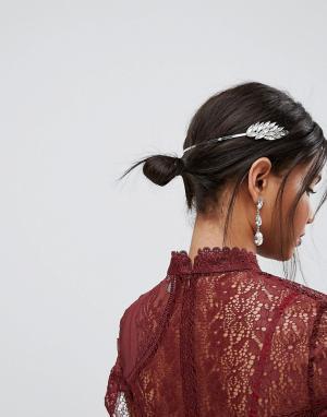 ASOS Украшение для волос с камнями. Цвет: серебряный