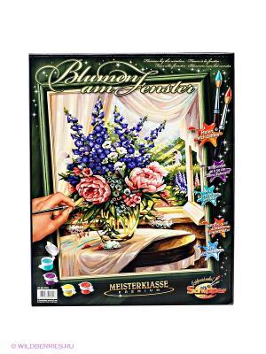 Раскраска по номерам Цветы на столе Schipper. Цвет: бежевый, розовый, фиолетовый