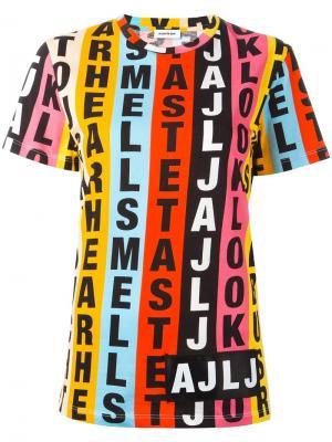Толстовка с короткими рукавами и графическим принтом Au Jour Le. Цвет: многоцветный