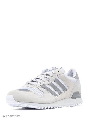 Кроссовки ZX 700 Adidas. Цвет: бежевый, белый