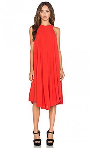 Платье kasia sen. Цвет: красный