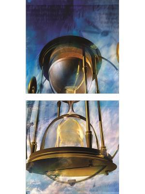 Картина модульная из квадратов 400*400мм ДСТ. Цвет: бежевый, синий