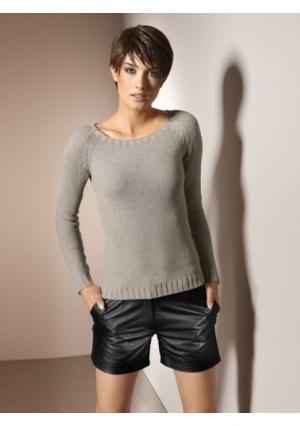Кожаные шорты PATRIZIA DINI by Heine. Цвет: коньячный, черный