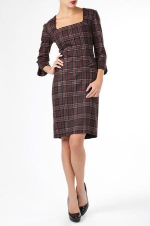 Платье ELLEN EISEMANN. Цвет: коричневый