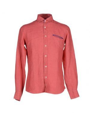Pубашка LEXINGTON. Цвет: коралловый