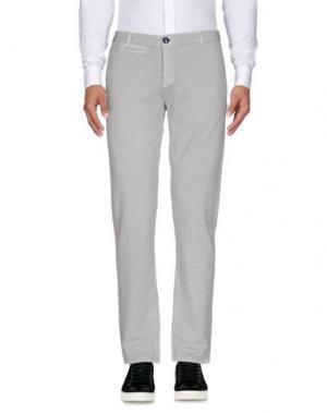 Повседневные брюки CIRCOLO 1901. Цвет: светло-серый