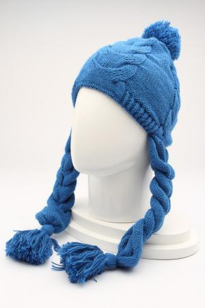 Шапка GROPA. Цвет: синий