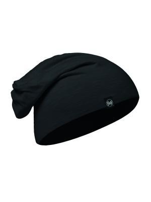Шапка BUFF 2017 Cotton Hat SOLID BLACK. Цвет: черный