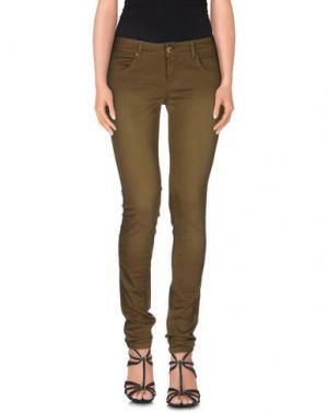 Джинсовые брюки CUSTO GROWING. Цвет: зеленый-милитари