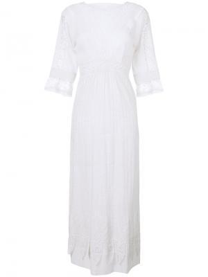 Кружевное платье Edwardian Talitha. Цвет: белый