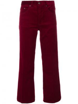 Укороченные вельветовые брюки Marc Jacobs. Цвет: красный