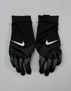 Nike Running Черные перчатки Storm Fit Hybrid RG.D8-003B. Цвет: черный
