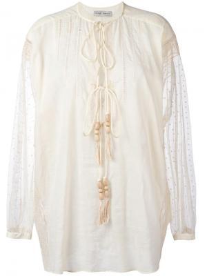 Рубашка с вышивкой Veronique Branquinho. Цвет: телесный