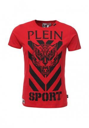 Футболка Plein Sport. Цвет: красный
