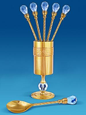 Набор ложек Юнион. Цвет: золотистый