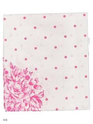 Платок головной женский Римейн. Цвет: розовый, белый