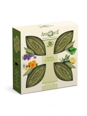 Набор мыла оливкового Ароматные травы Aphrodite. Цвет: оливковый