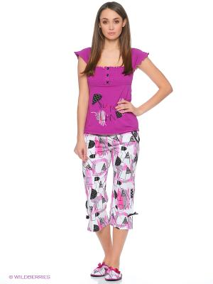 Пижама Cascatto. Цвет: малиновый