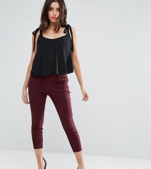 ASOS Petite Укороченные брюки скинни. Цвет: фиолетовый
