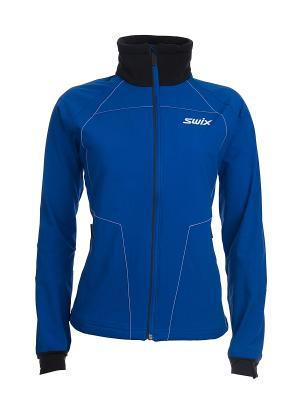 Куртка Powder Swix. Цвет: синий