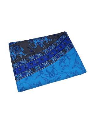 Покрывало декоративное набивное ETHNIC CHIC. Цвет: синий, голубой