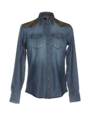 Джинсовая рубашка AGLINI. Цвет: синий