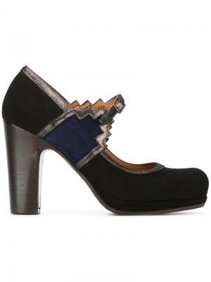 Туфли Mary Jane на устойчивом каблуке Chie Mihara. Цвет: чёрный