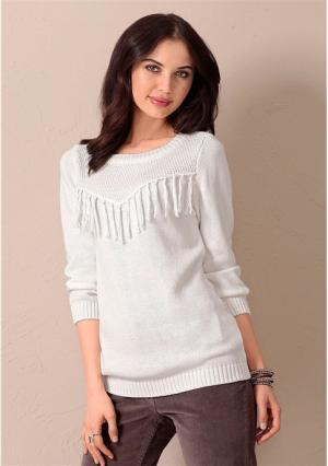 Пуловер Y.O.U.. Цвет: цвет белой шерсти