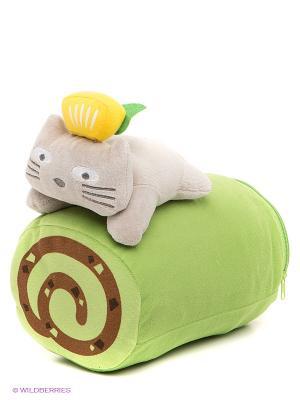 Набор Плед с подушкой Pets@work. Цвет: светло-зеленый, коричневый