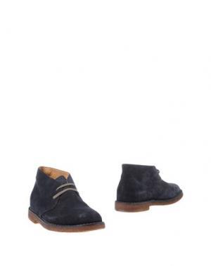 Полусапоги и высокие ботинки UIT. Цвет: темно-синий