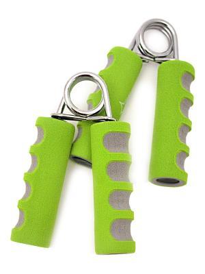 Эспандер кистевой STAR FIT ES-304 пружинный, эргономичный, мягкая ручка, зеленый/серый (2шт.) starfit. Цвет: зеленый, серый