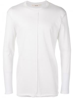 Ribbed detail longsleeved T-shirt Damir Doma. Цвет: телесный