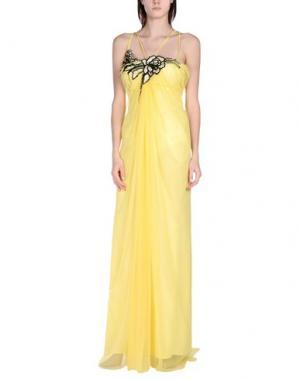 Длинное платье X'S MILANO. Цвет: желтый