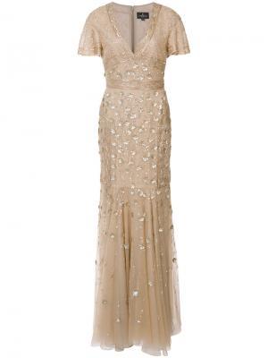 Платье с отделкой J. Mendel. Цвет: телесный