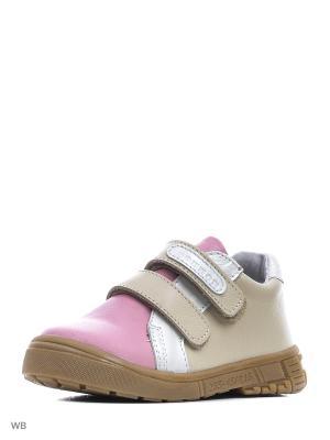 Ботинки Ronnon. Цвет: бежевый, белый, розовый