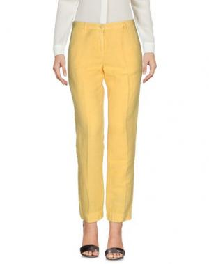 Повседневные брюки MASSIMO ALBA. Цвет: желтый