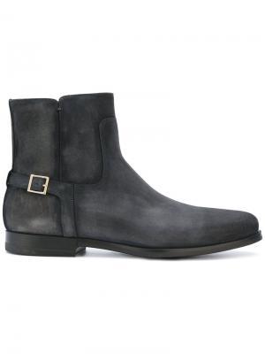 Buckle-strap ankle boots Santoni. Цвет: серый