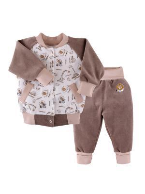 Комплект (куртка,брюки) Наша Мама. Цвет: коричневый