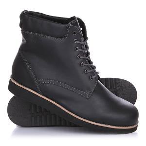 Ботинки зимние  Тим Black Rheinberger. Цвет: черный