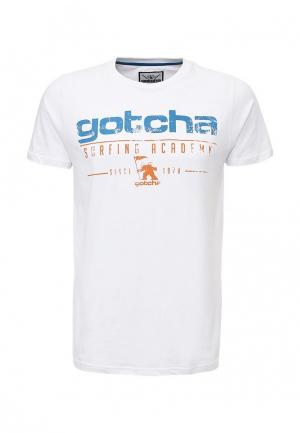 Футболка Gotcha. Цвет: белый