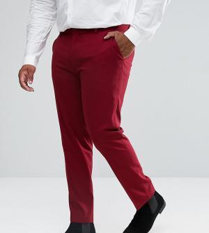 ASOS Красные брюки скинни под смокинг PLUS. Цвет: красный