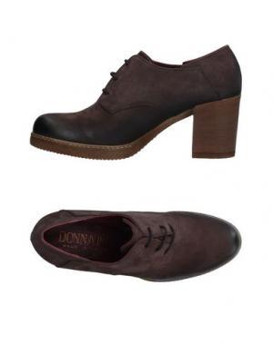 Обувь на шнурках DONNA PIÙ. Цвет: темно-коричневый
