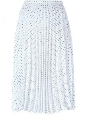 Плиссированная юбка с узором в горох J.W.Anderson. Цвет: белый